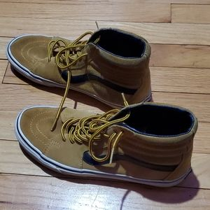 Van's High top cacky/leather rare